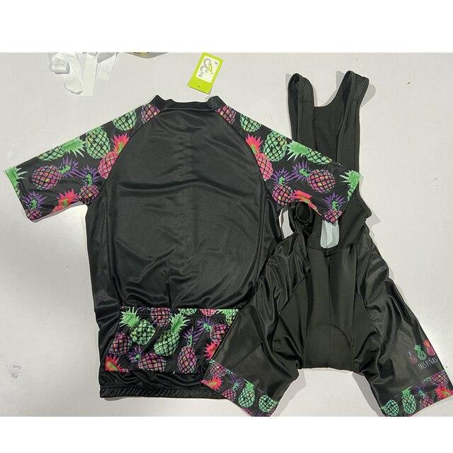 Tres pinas das mulheres verão manga curta jérsei define 20d gel almofada bib shorts trajes mujer ciclismo wear feminino bycicle wear 4