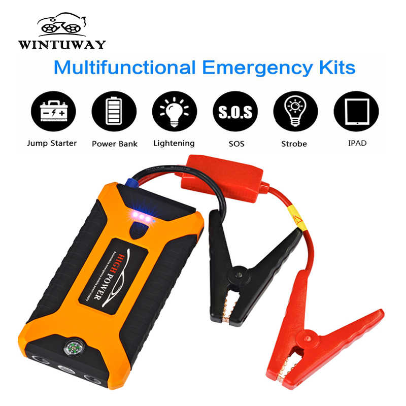 WINTUWAY Super Power Jump Starter Power Bank 600A แบบพกพา Battery Charger Booster Charger 4USB 12V SOS ราคาเริ่มต้นที่อุปกรณ์