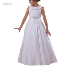 שמלות פרח ילדה סאטן