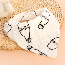 Baby Scarf Bibs-Set Bandana Baby-Accessories Burp-Cloth Triangle Girl Water Cotton Boy