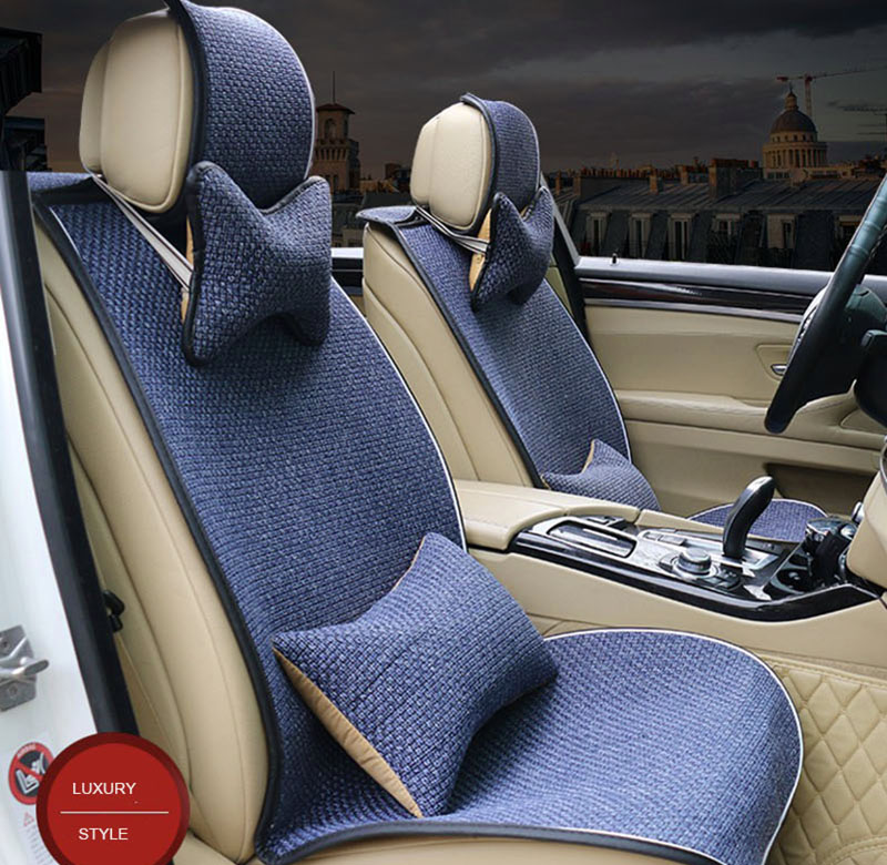 Universal Linen Fabric Car Seat Cover for ford mondeo mk4 <font><b>peugeot</b></font> <font><b>3008</b></font> lada vesta citroen c4 covers for cars <font><b>accesorio</b></font> para auto image