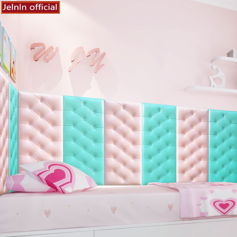 Rainbow color foam wallpaper self adhesive 3d sponge wall stickers kindergarten children s room bedside wall