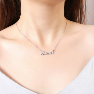 Customized Fashion Stainless Steel Name Necklaces Personalized Letter Gold Color Choker Necklace Pendant Nameplate Gift