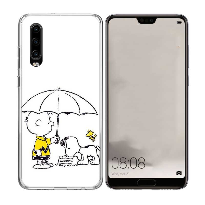 Cute Puppy Snoopys Luxury TPU Silicone Case For Huawei P30 P20 Mate 20 10 Pro P10 lite P Smart Z Plus 2019 2018 Shell Cover in Fitted Cases from Cellphones Telecommunications