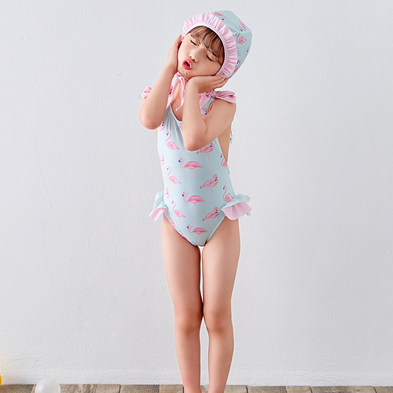 KID'S Swimwear Girls Korean-style New Style Siamese Swimsuit Female Baby Sweet Cute Swimwear A Generation Of Fat Wholesale