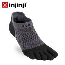 Injinji Calcetines deportivos para hombre, de cinco dedos zapatillas de deporte, de corte bajo, delgados, COOLMAX, absorbentes para el sudor, de secado rápido, para Yoga y ciclismo