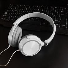 3.5 MM Jack Wired Headphones Gaming Headphones With Microphone Over Ear Wired Headset Foldable For PC Mobile Phone Laptop