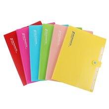 Симпатичная папка А4 для документов чехол 10 цветов органайзер