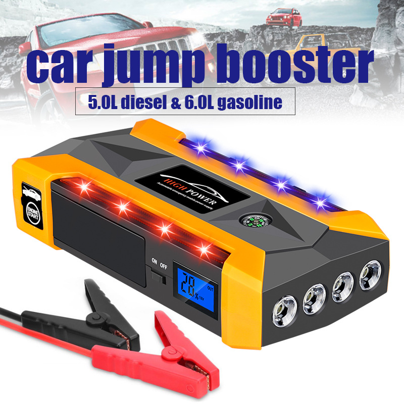 <font><b>Power</b></font> <font><b>Bank</b></font> 20000mAh Emergency Starting Device <font><b>12V</b></font> Car Jump Starter Fast Portable Charger <font><b>For</b></font> Car Battery Booster with Flashlight image