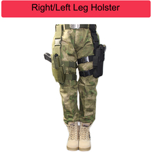 Tactical Nylon Right/Left Leg Airsoft Pistol Gun Holster Case Bag Drop Pouch Adjustable Hunting For Universal