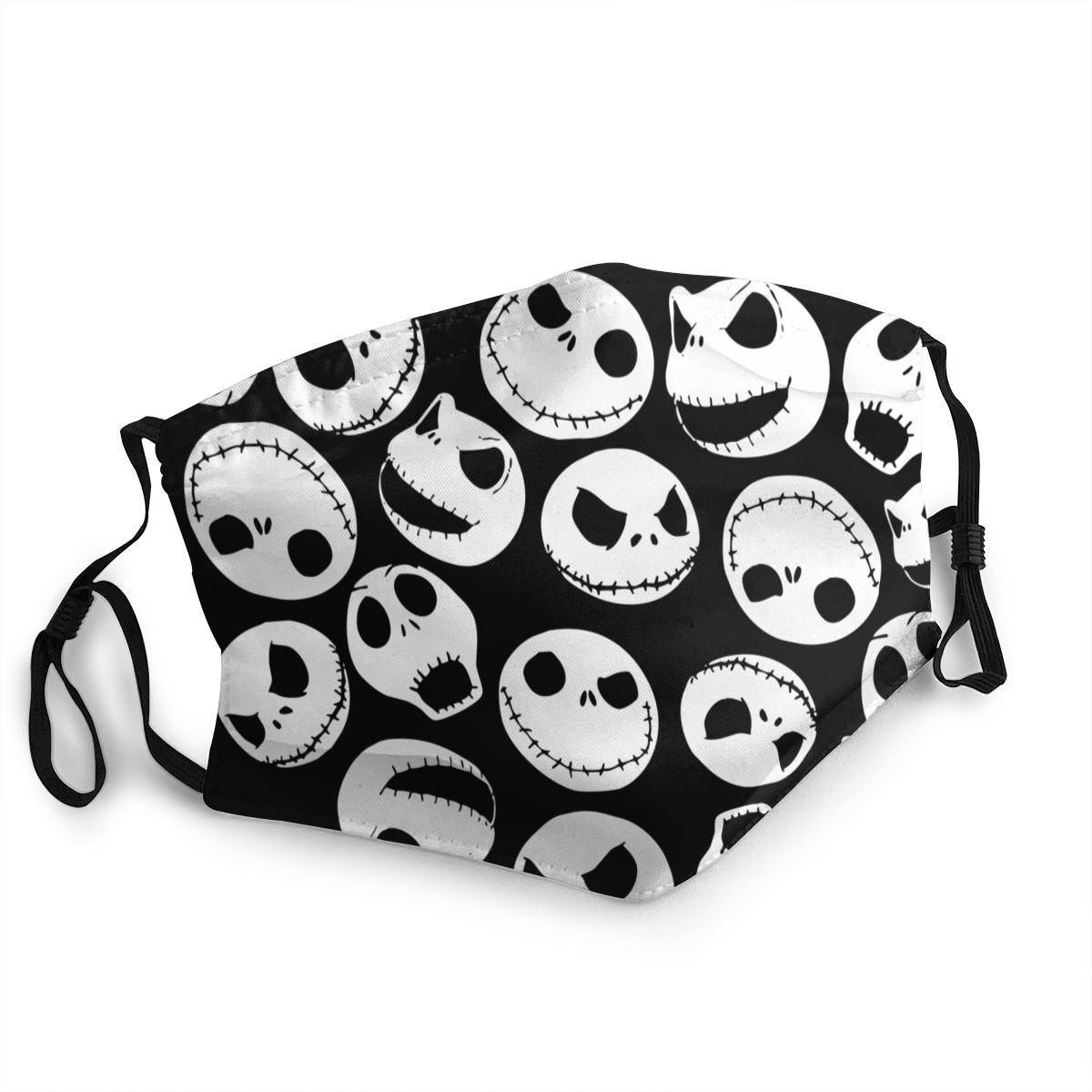 Jack Skellington Men Women Non-Disposable Face Mask Nightmare Before Christmas Anti Bacterial Dust Protection Cover Respirator