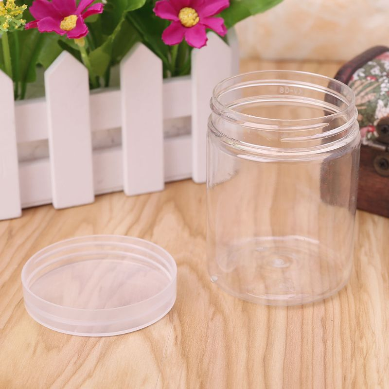 150ml Round Clear PET Container Jar Pot Bottle For DIY Slime Clay Makeup Cosmetic Cream Nail Box Square With Lid