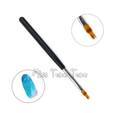 1 pc gradiente uv gel escova de pintura da arte do prego escova diy beleza decoração manicure para unhas desenho caneta ombre