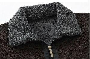 Image 4 - NEGIZBER 2019 חורף Mens מעיל מעילי מוצק Slim Fit עבה פרווה צמר מעילי גברים אופנה חם גברים של קשמיר מעיל Streetwear