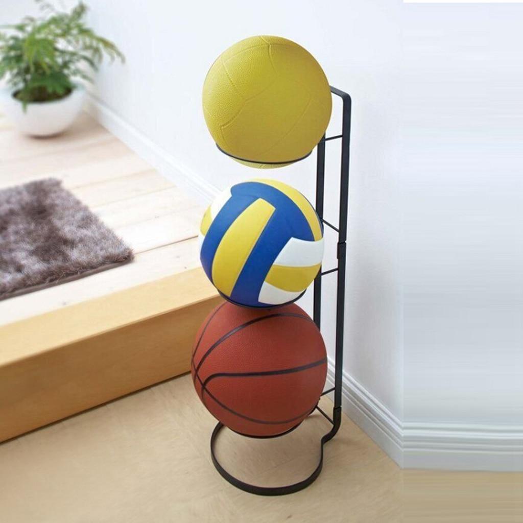 Espositore per calcio in metallo espositore per palloni supporto per pallacanestro, supporto per pallacanestro per organizzatore di palline sportive salvaspazio