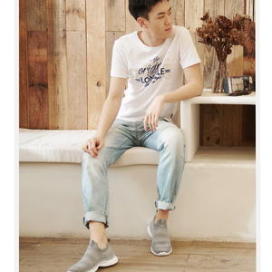 Image 4 - Xiaomi Mijia Youpin ULEEMARK Lightweight Walking Couple Casual Shoes Flying Woven Upper One piece Sock Breathable Fashion Man