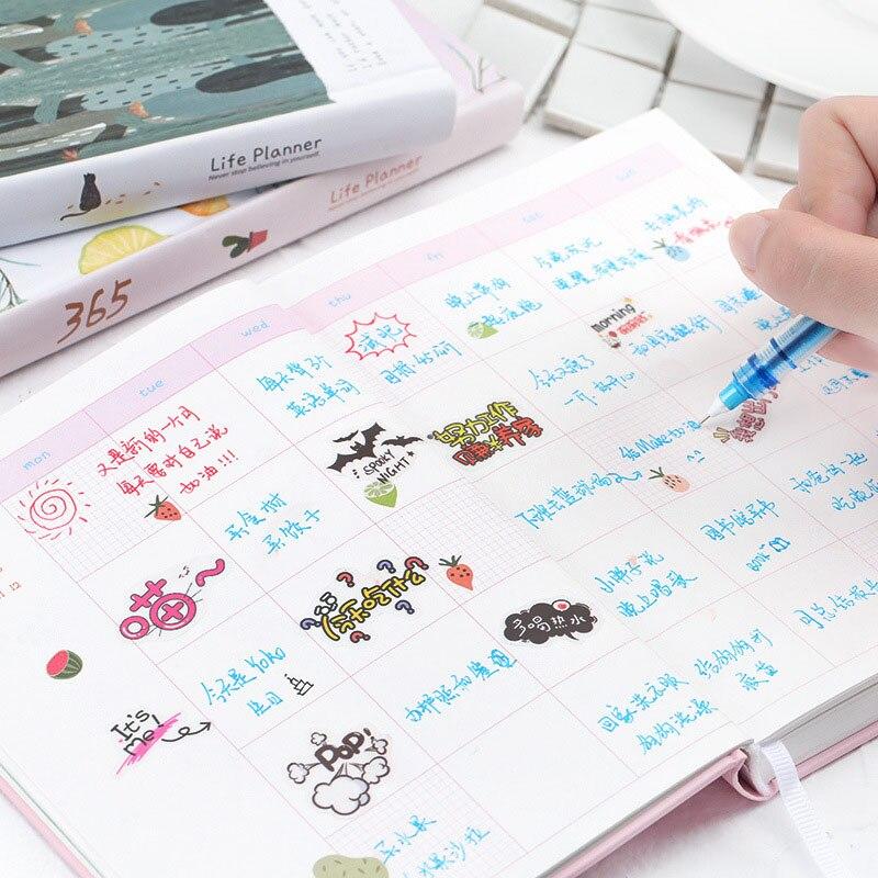 365 hari senarai comel perencana buku nota buku harian halaman - Pad nota dan buku nota - Foto 3