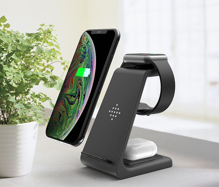 Bonola 3 in1 Wireless Charger For iPhone 11Xs AirPods Apple Watch 23 Wireless Charging Stand for iWatch iPhone 11ProXrXs Max (2)