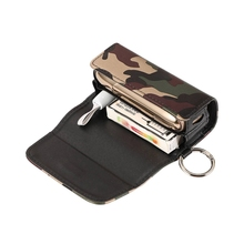 Flashy Luxury Leather Portable Storage Bag Waterproof Carrying Case Adjustable Space for IQOS 3.0 3.0 DOU Camouflage Colors
