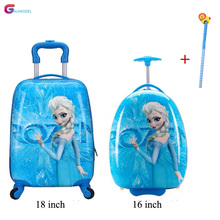 Kids Suitcase Children Travel Trolley Luggage Backpack Bags Wheeled Suitcase for Kids Rolling Luggage Suitcase Case