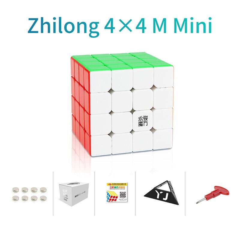 Original YJ Zhilong Mini 3x3 M 4x4 M 5x5 M Magnetic Speed Cubes Small Size YongJun Zhilong Magico Cube Puzzle Toys Magnetic Cube 10