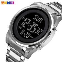 Skmei цифровые 2 времени мужские часы модные светодиодные Мужские