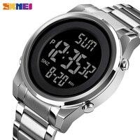 Azul del reloj SKMEI Digital 2 tiempo Relojes LED moda hombres reloj de pulsera Digital Chrono contar alarma hora para hombre reloj hombre 1611