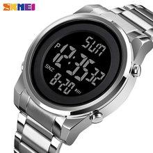 SKMEI Digital 2 Time Mens Watches Fashion LED Men Digital Wristwatch Chrono Count Down Alarm Hour For Mens reloj hombre 1611