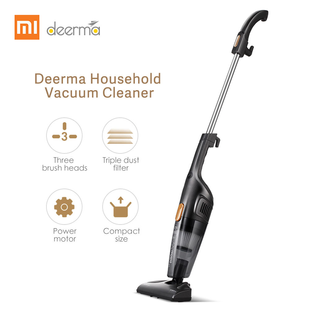 2019 Deerma 2-in-1 Handheld/Vertical Household Small Silent Vacuum Cleaner 14000Pa Strong Suction Home Aspirator Dust Collector