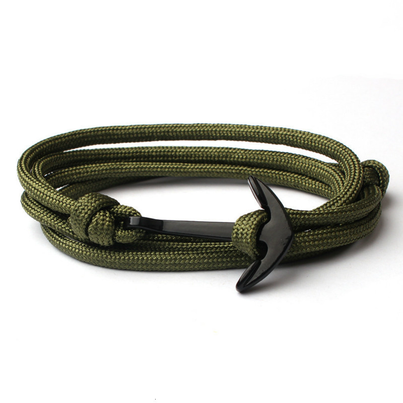Classic 2020 Anchor Leather Bracelet For Men Vintage Multilayer Rope Chain Men Bracelet Jewelry Gift Hombre Pulsera