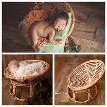 Acessórios de fotografia recém-nascidos foto tiro adereços bebê infantil do vintage tecido cesta menino e menina bambu cama