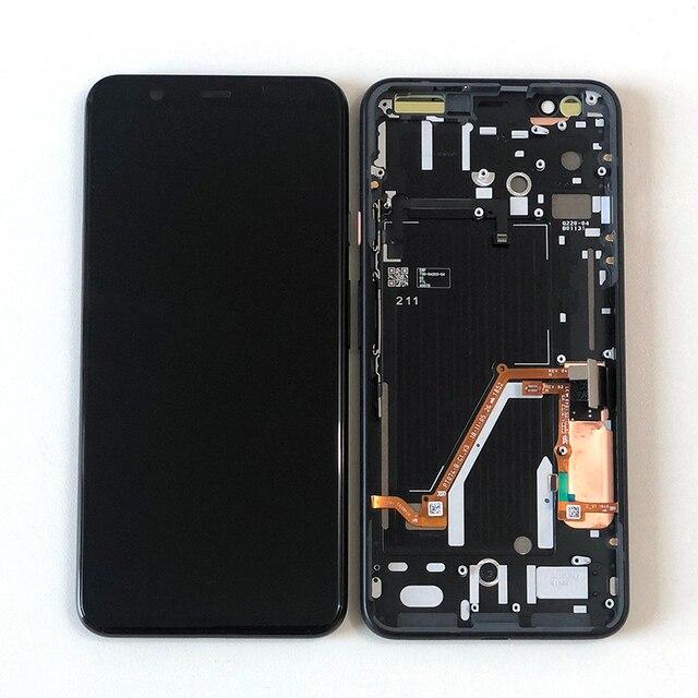 """6.3 """"オリジナルスー amoled m & セン google のピクセル 4 xl 液晶画面ディスプレイ + タッチパネルデジタイザフレーム google のピクセル 4XL"""