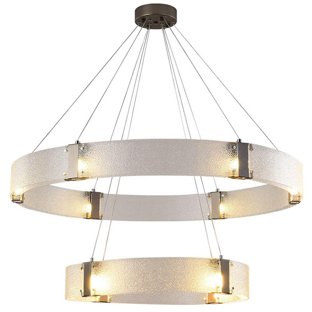 Art Designer LED Chandelier Glass Lamp  AC110V 220v Living Room Bedroom Lights