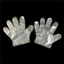 50 шт одноразовые перчатки пленка из пластика, полиэтилена пальцы чистые перчатки краска для волос перчатки