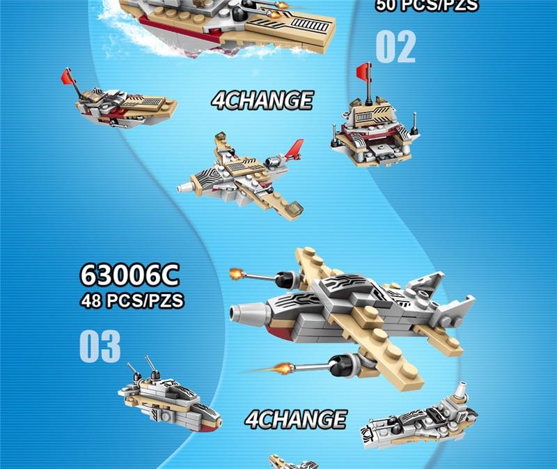 1000+ PCS Military Warship Navy Aircraft Army Figures Building Blocks LegoINGlys Army Warship Construction Bricks Children Toys (21)