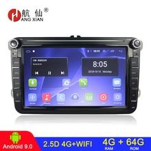 4G + 64G 2 din Android 9,1 Auto Radios GPS Multimedia Player Für VW/Volkswagen/Golf 5 6/Passat/b7/b6/Skoda/Seat/Octavia/Polo/Tiguan