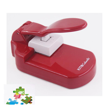 DIY Portable Cutting and Embossing Machine puzzle maker craft punch diy tools handy puncher cheap plstic +Alloy puzzle Embossing Dies Machine can be customized 20 6*10 6*12 6cm puzzle Cutting Embossing Machine diy cutting machine