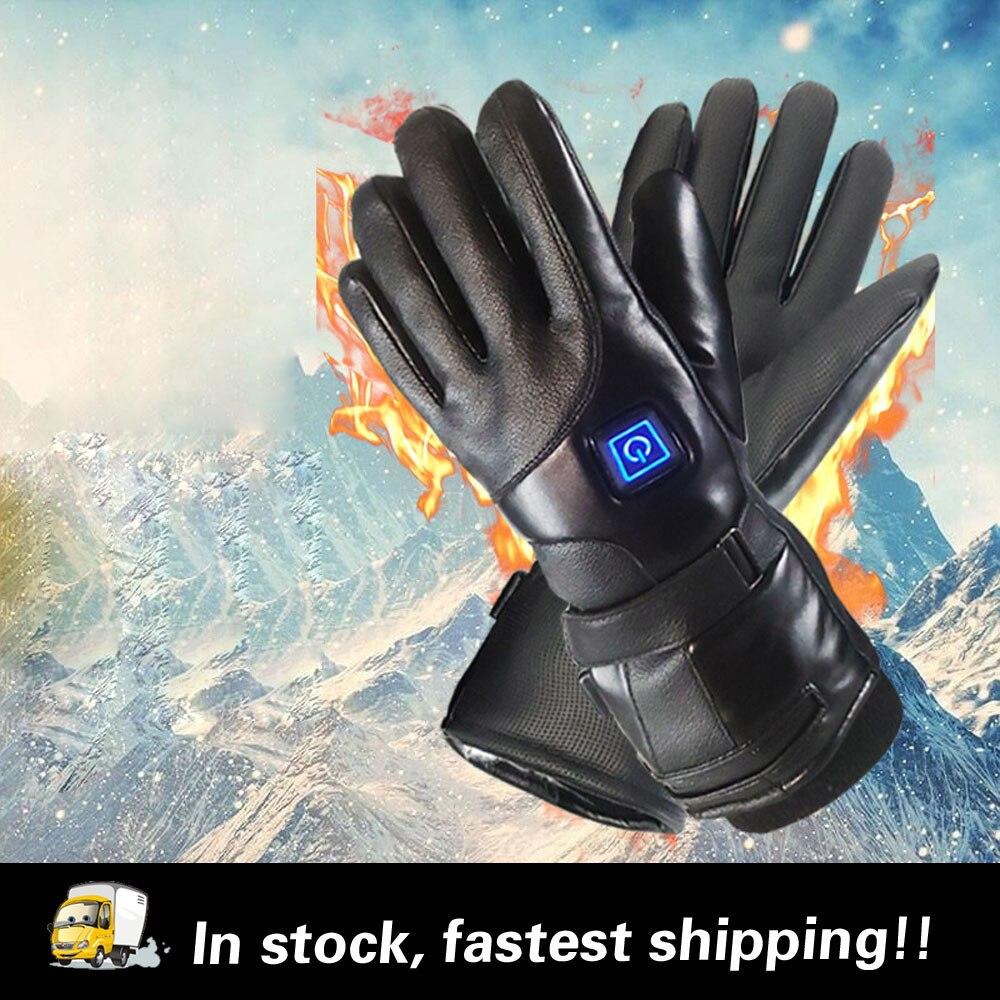 7.4V lithium battery 4000mAh charging heating gloves three-gear Ski Gloves