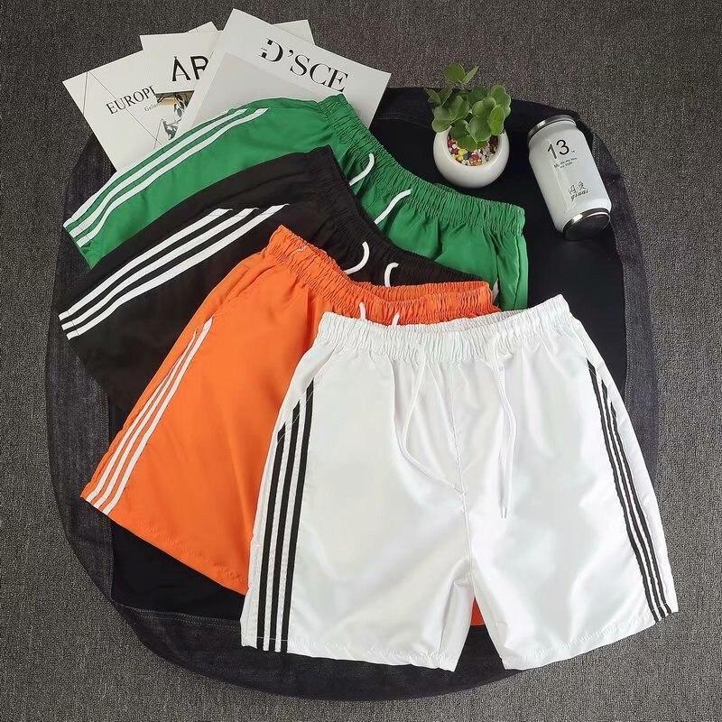 New Style Spring Summer Teenager Students Shorts Three Bars Sports Running Pants Loose-Fit Beach Shorts Korean-style Shorts