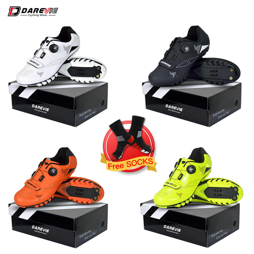 Darevie 2019 MTB Cycling Shoes Mountain Bike Cycling Shoes Men Women Cycling Shoes Cycling Boots Biking Shoes SPD Bicycle Shoes