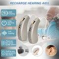 Перезаряжаемые мини-слуховые аппараты Audifonos, звуковые усилители, беспроводная регулировка, слуховой аппарат для пожилых людей, тяжелая пот...