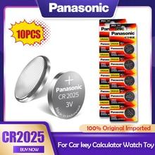 10 pces originais panasonic cr2025 cr 2025 ecr2025 br2025 dl2025 kcr2025 lm2025 3v baterias de lítio para câmera relógio botão célula