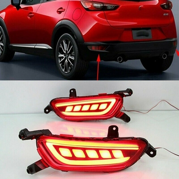 LED Rear Bumper Lamp Reflector Tail Fog DRL Rear Brake Lights for Mazda CX-3 2013 - 2016