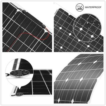 DOKIO Brand 50W 18V Flexible Solar Panel China + 10A 12V/24V Controller 50 Watt Flexible Panels Solar Car/Boat Battery Charger 3