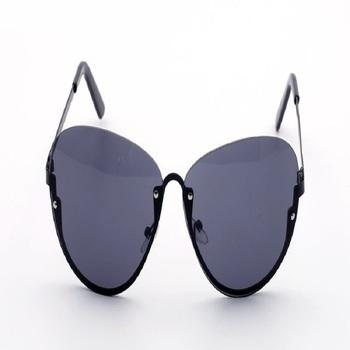 Modne okulary modne pół ramki małe świeże okulary przeciwsłoneczne letnie modne okulary przeciwsłoneczne ocean piece tanie i dobre opinie Ochrona przed promieniowaniem UV