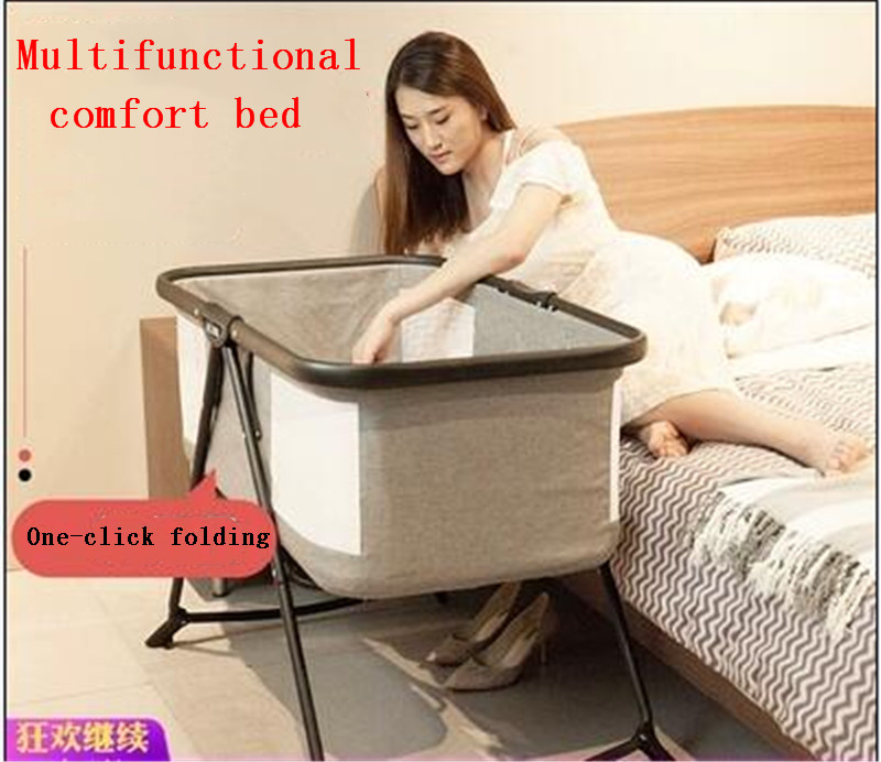 Newborn Folding Small Multifunctional Portable Baby Cradle Bed With Mosquito Net Crib Free Shipping