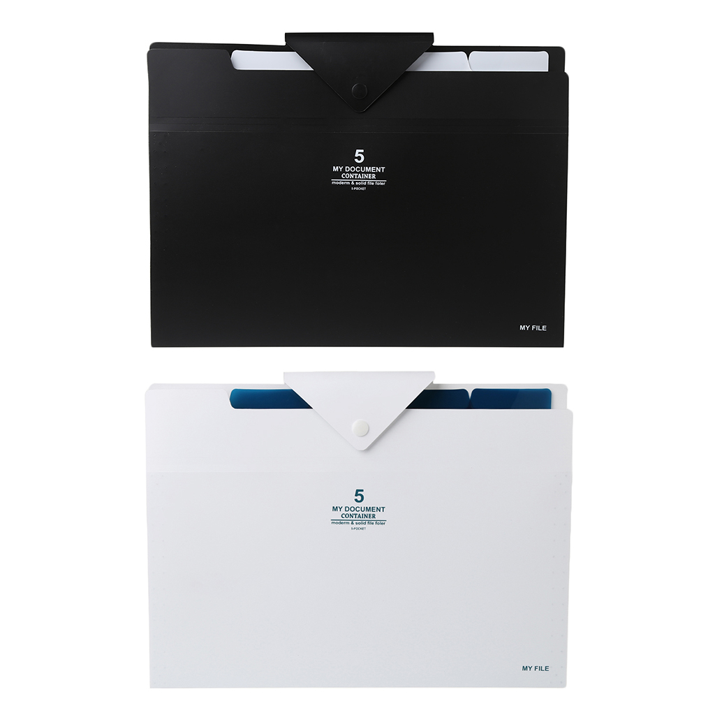 5 Layer Expanding File Folder Organ Bag A4 Organizer Paper Hold Document Folder