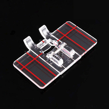 DIY Parallel Stitch Tool Foot Presser Home domestic Sewing Machine Manual Sewing Tool Plastic Clear Sewing Accessories New