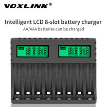 VOXLINK Батарея Зарядное устройство ЖК-дисплей Дисплей Smart интеллигентая (ый) 8-образными пазами Зарядное устройство s Для зарядное устройство д...