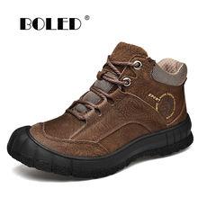 Ботинки размера плюс мужские зимние ботинки высокого качества